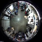 تصویر ۳۶۰ درجه از دوربین مداربسته Fisheye